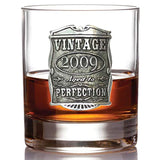 English Pewter Company Vintage Years 2009 10th Anniversary Gift Old Fashioned Whisky Rocks Glass