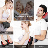 Neck Massage Pillow Shiatsu Deep Kneading Shoulder Back and Foot Massager with Heat-Relaxation