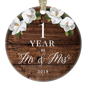 First 1st Wedding Anniversary 2019 Christmas Tree Ornament