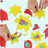 Outus 40 Pieces Magic Colorful Scratch Boards Fall Leaves Scratch Ornaments and 20 Pieces Scratching Tools