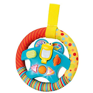 "Steering Wheel Toy ""My Little Driver"" with Motion Sensors, Music, Lights and Sounds."