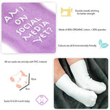 Set of 6 Unisex Baby Socks – Premium Quality, Soft & Comfortable Cotton Socks for 0-12 Month Old Babies – Makes Cute Baby Shower Gift