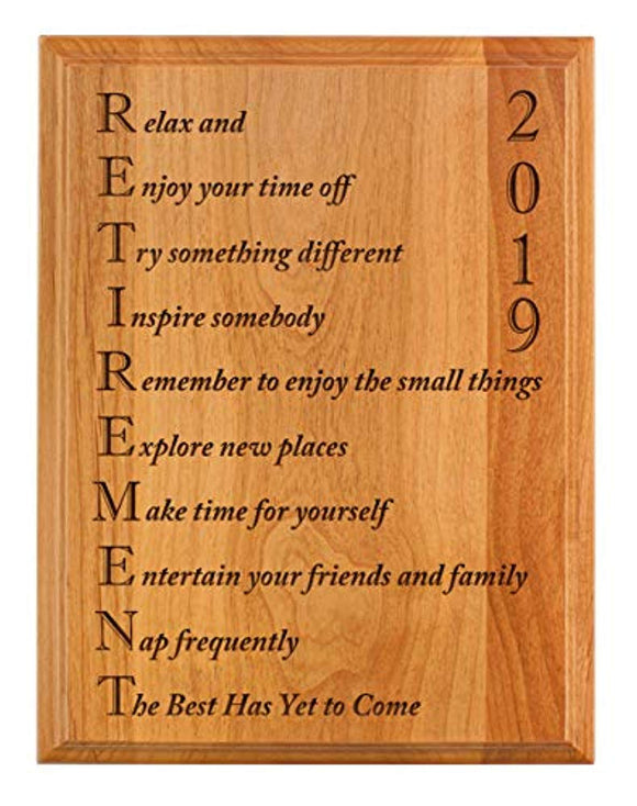 ThisWear Retirement Gifts Women Men Retirement 2019 Retired Poem Retirement Gift Ideas Coworker 7x9 Oak Wood Engraved Plaque Wood