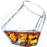 Dragon Glassware Diamond Whiskey Glasses, Premium Designer Tumblers for Spirits and Wine