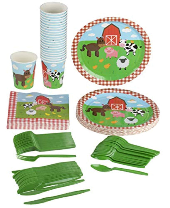 Farm Animals Party Supplies – Serves 24