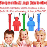 Chew Necklace by GNAWRISHING - 5-Pack - Perfect for Autistic, ADHD, SPD, Oral Motor Children, Kids, Boys, and Girls