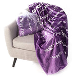 Blankiegram Hugs Blanket The Perfect Caring Gift (Purple)