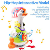 KONIG KIDS Dancing Goose Hip Hop Style Music and Light Learning Toy for Toddlers, Red