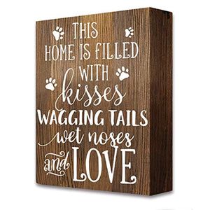 akeke Pet Dog Home Love Rustic Farmhouse Wooden Box Signs Plaque Decor Gift