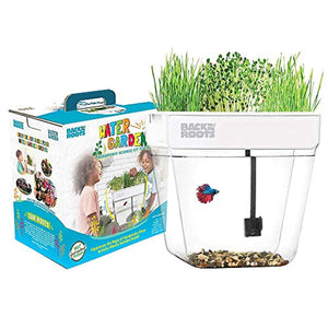 Back to the Roots Water Garden Betta Fish Aquaponic Ecosystem Science Kit for Kids