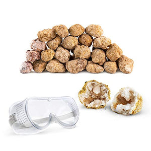 "Discover with Dr. Cool Break Your OWN 25 Large (2""-2.5"") Premium Moroccan Geodes"