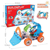 HOMOFY 132PCS Engineering STEM Educational Building Toys