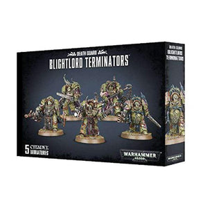 "Games Workshop 99120102074"" Death Guard Blightlord Terminators Miniature"