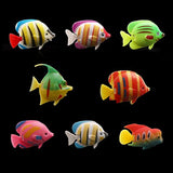 Tinksky 10pcs Lifelike Plastic Artificial Moving Floating Fishes Ornament Decorations for Aquarium Fish Tank