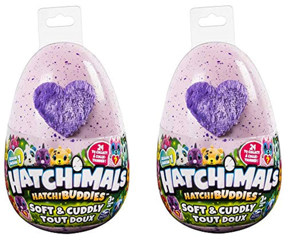 Hatchimals Plush Season 1 HatchiBuddies 6 Mystery Plush (2-Pack) Includes Blizy Pen