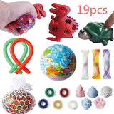 Sensory Toy Set - 19 pcs Decompression Toys for Children and Adult