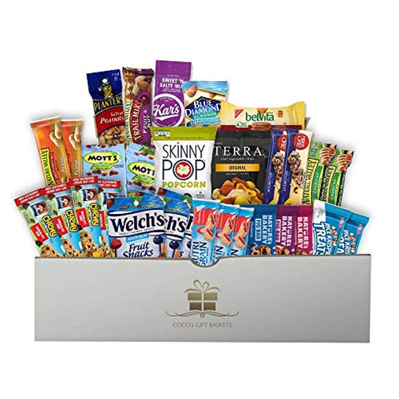 Healthy Snacks Care Gift Package (30 Pieces) - Coco's Gift Baskets