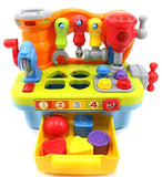 CifToys Musical Learning Workbench Toy for Kids Construction Work Bench Building Tools