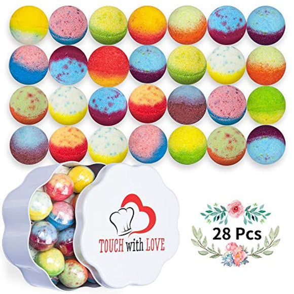 28 Bath Bombs with Gift Tin Box