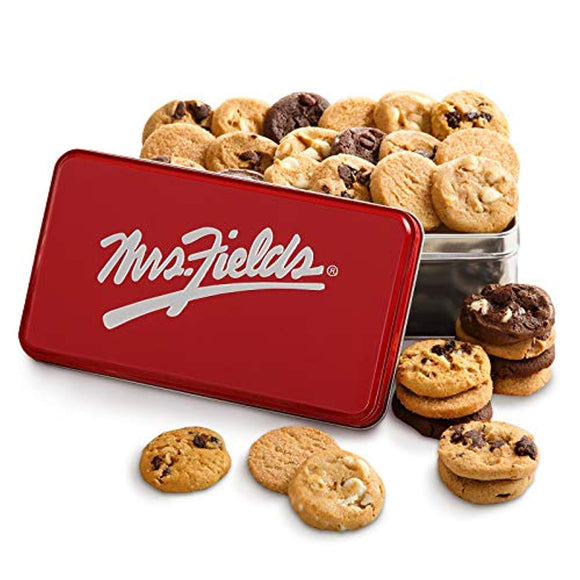 Mrs. Fields Signature Nibbler-Bite Size Cookies Tin (30 Count)