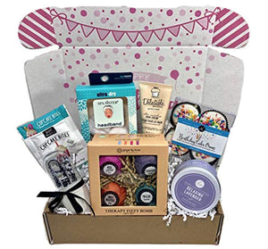 Spa Bath Bomb Birthday Theme Gift Basket Box Her-Women, Mom, Aunt, Sister or Friend