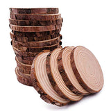 Unfinished Natural Wood Slices 20 Pcs 3.5-4 inch Craft Wood kit