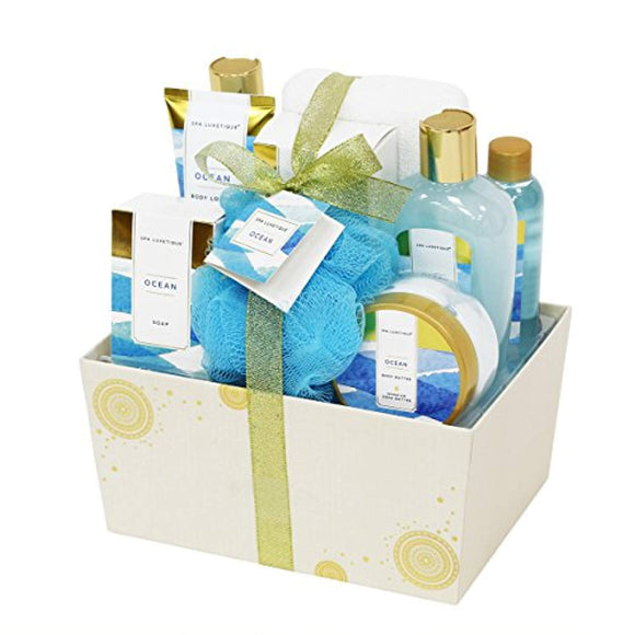Spa Luxetique Bath Spa Gift Baskets for Women, Premium10pc Gift Baskets for Women