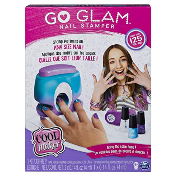 Cool Maker Go Glam Nail Stamper, Nail Studio Activity Kit with 5 Patterns