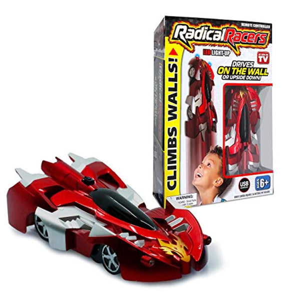Radical Racers Wall-Climbing Car, Remote-Controlled with 360 Degrees Turn Functionality for Multi Directional Play