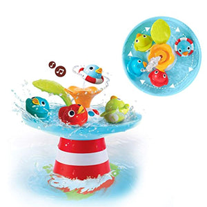 Yookidoo Bath Toy - Musical Duck Race with Auto Fountain, Water Pump, and 4 Racing Ducks