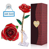Gold Rose Forever Rose - 24 Gold Dipped Roses Forever Gifts for Her Anniversary