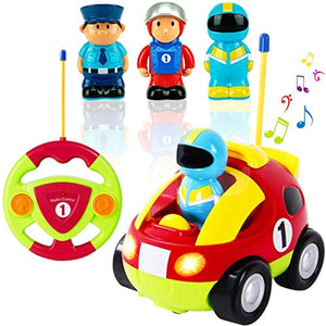 Liberty Imports My First Cartoon R/C Race Car Radio Remote Control Toy for Baby