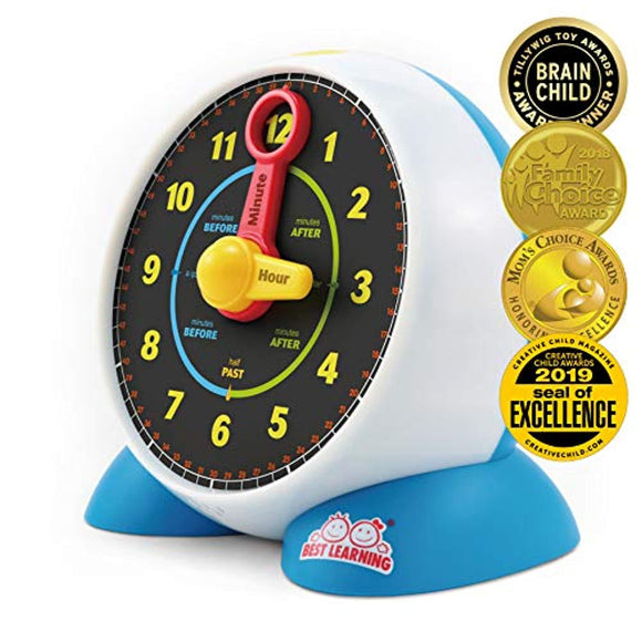 BEST LEARNING Learning Clock - Educational Talking Learn to Tell Time Light-Up Toy
