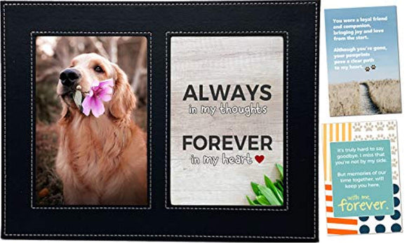 Baby Mushroom Pet Memorial Picture Frame - Loss of Dog or Cat Sympathy Gift