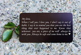 Engraved Wallet Insert Anniversary Gifts for Men, Boyfriend Gift Idea for Him