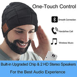 Upgraded Bluetooth Beanie Hat Headphones Wireless Headset Winter Music Speaker Hat