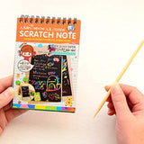 16 Pack Scratch Note Pads with 4 Different Colors Random Delivery, Drawing Notepads for Kids