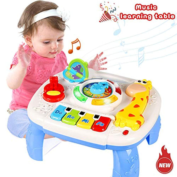 HOMOFY Baby Toys Musical Learning Table 6 Months Up- Early Education Activity Center