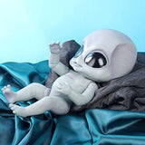 TERABITHIA 14inch Realistic Hand Detailed Painting Vinyl Full Body Reborn Alien Dolls
