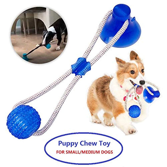 Dog Chew Toys Pet Supplies, Self-Playing Rubber Ball Rope Toy
