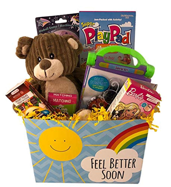 Deluxe Girls Feel Better Soon Get Well Gift Basket
