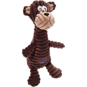 Charming Pet Squeakin' Squiggles Monkey Dog Toy