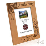 Kate Posh - Our 5th Anniversary Wooden Picture Frame