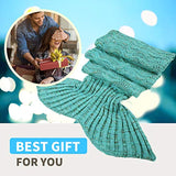 Fu Store Mermaid Tail Blanket Crochet Mermaid Blanket for Adult