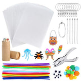 Auihiay 91 Pieces Shrink Plastic Sheet Kit