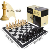 LifeSmart Large Roll Up Chessboard and Chess Set
