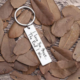 Husband Wife Keychain Gifts for Anniversary Birthday Wedding Gifts from Wifey Hubby