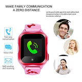 DUIWOIM Waterproof Smart Watches for Kids Phone Watch Accurate GPS Tracker