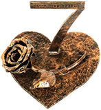 OptiProducts 7 Year Copper Iron Rose Heart