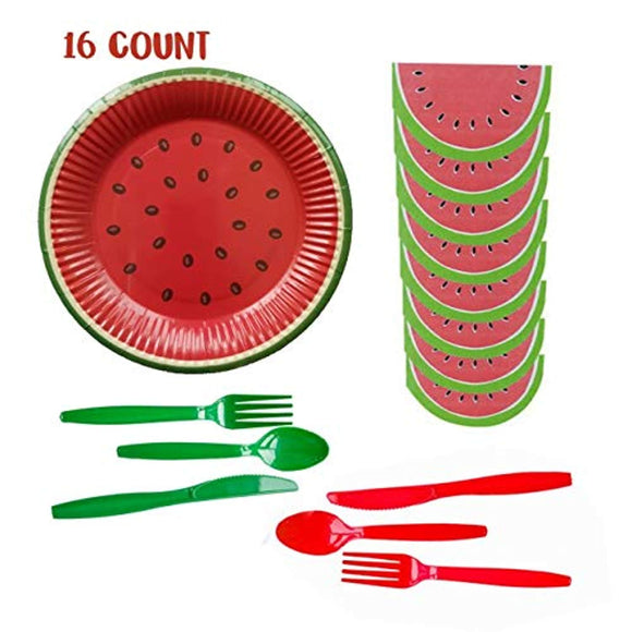 Inno-Huntz Watermelon Plates Napkins Party Supplies Paper Tableware